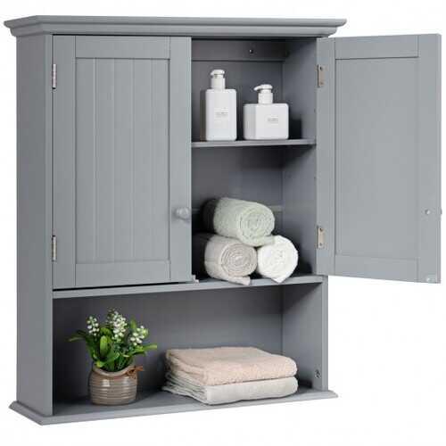 Wall Mount Bathroom Storage Cabinet -Gray