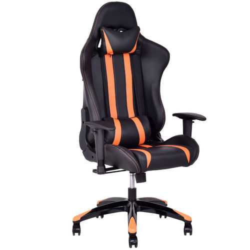 High-Back Reclining Racing Gaming Chair with Head-Rest Pillow