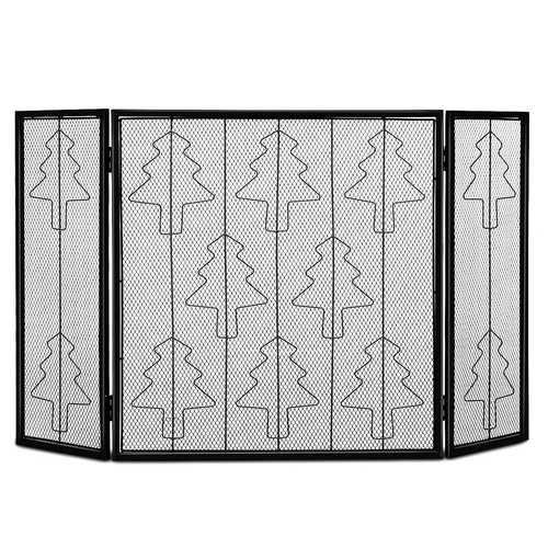 3 Panel Folding Steel Fireplace Screen