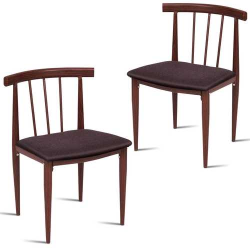 Set of 2 Fabric Upholstered Dining Chairs