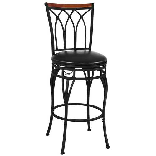 "24"" 28"" Height Adjustable Vintage Swivel Bar Stool"