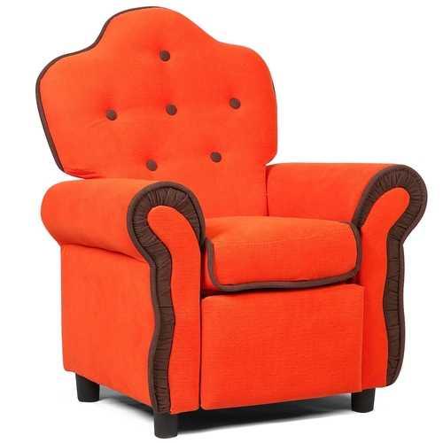Black/Pink/Orange Living Room Kids Sofa