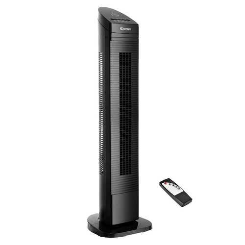 "35"" Black LED Digital Remote  Control Tower Fan"
