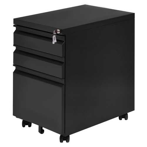 3 Drawers Rolling File Storage Cabinet