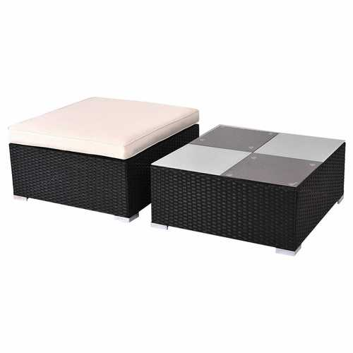 Outdoor Patio Rattan Furniture Set Infinitely Combination with Cushion