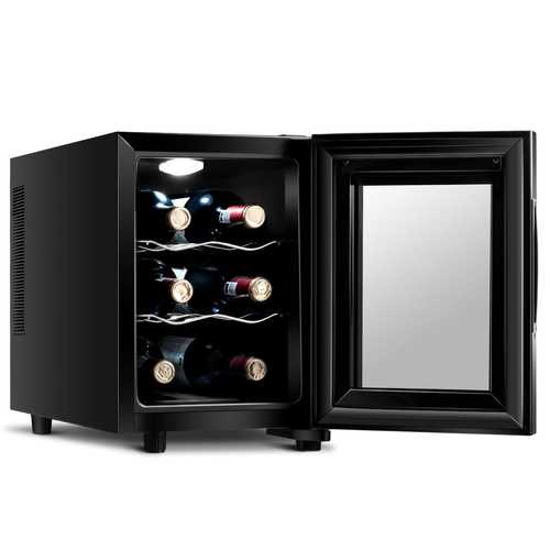 6 Bottle Freestanding Thermoelectric Wine Cooler Freestanding