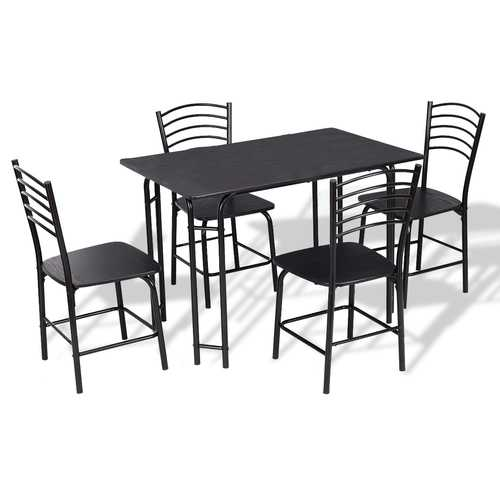 5 pcs Modern Dining Steel Frame Home Kitchen Furniture