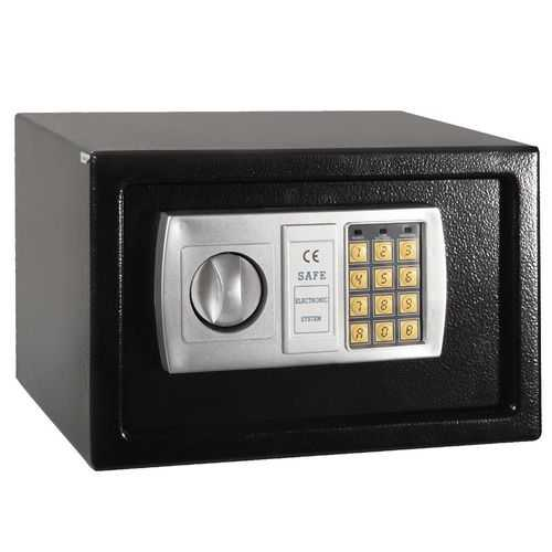 "12.5"" Black Electronic Keypad Digital Lock Safe Box"