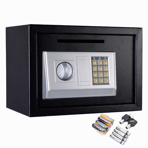 "Black 14"" Digital Depository Drop Cash Safe Box"