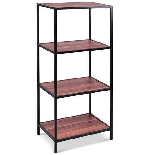 4-Tier Sturdy Metal Frame Storage Shelf