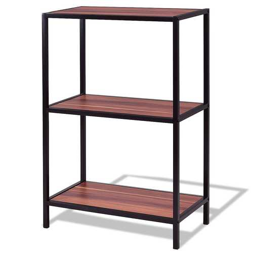 3-Tier Portable Metal Frame Storage Shelf