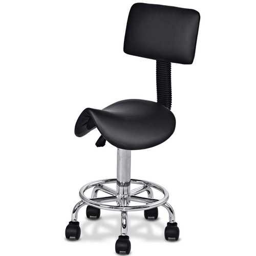 Adjustable Saddle Salon Rolling Massage Chair with Backrest