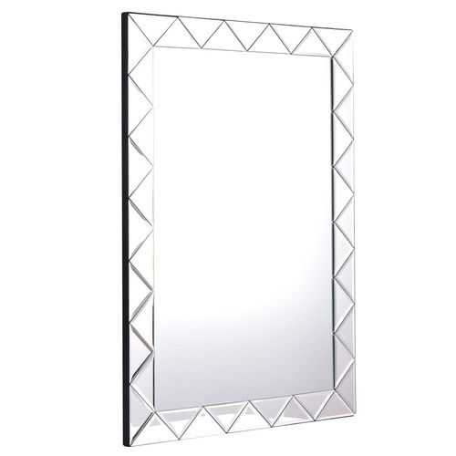 "21.5"" x 30.5"" Rectangle Wall Mirror Frame Angled Glass Panel"