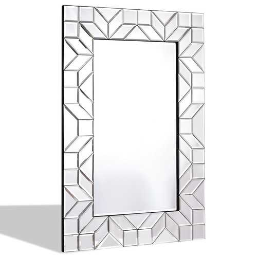 "23.5"" x 35.5"" Rectangular Wall-Mounted Wooden Frame Vanity Mirror"