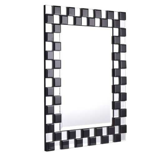 "23.5"" x 31.5"" Rectangular Wall-Mounted Wooden Frame Bathroom Mirror"