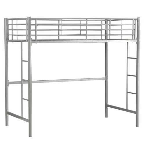 Twin Loft Bed Metal Bunk Ladder Beds Bedroom Dorm