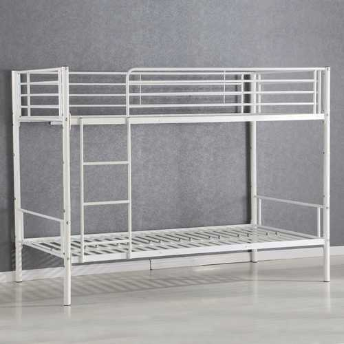 Metal Twin Bunk Bed Frame with Ladder