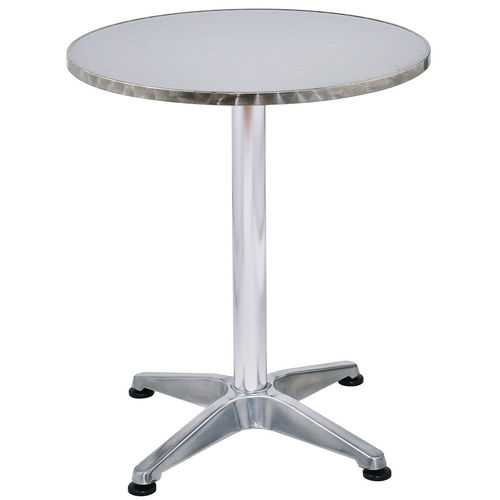 "23 1/2"" Stainless Steel Aluminium Round Cafe Bistro Table"