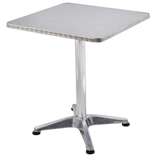 "23 1/2"" Stainless Steel Aluminium Square Cafe Bistro Table"