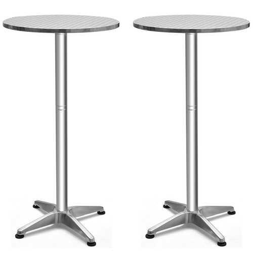 Stainless Steel Aluminium Round Folding Desktop Bar Table