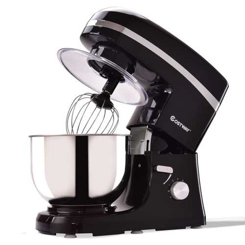 800 W 5.3 Quart Electric Food Stand Mixer w/ Stainless Steel Bowl