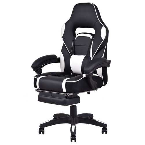 Swivel High Back Computer Office Chair with Footrest