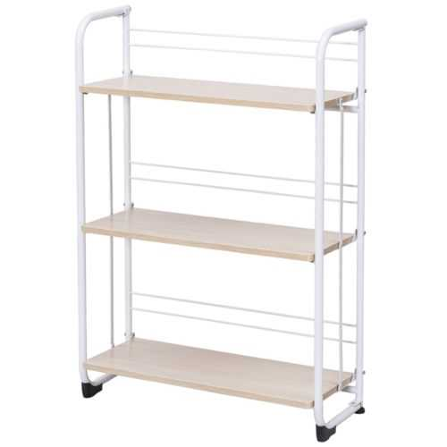 3-Tier Folding Shelves Storage Utility Standing Rack
