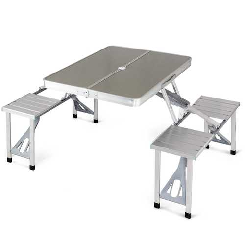 Aluminum Portable Folding Picnic Table with 4 Seats