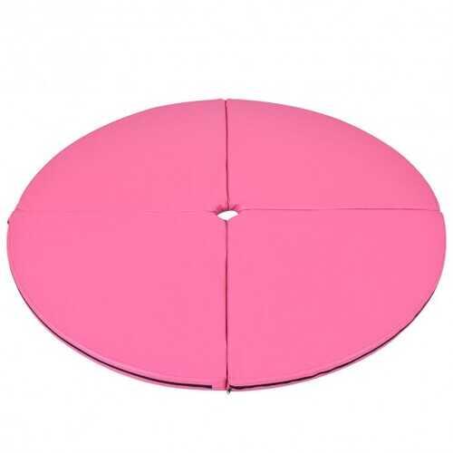 """2"""" Foldable Pole Dance Yoga Exercise Safety Cushion Mat - Pink"""