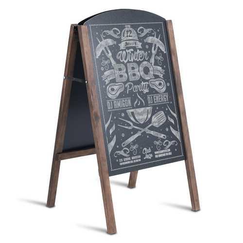 """31.5"""" Wood A-Frame Sidewalk Signage Chalkboard"""