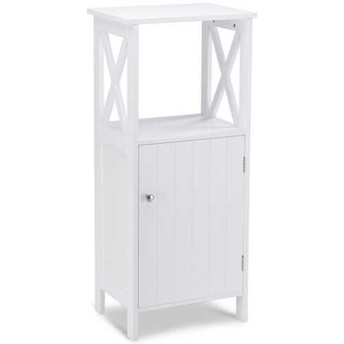 Bathroom Single Door Storage Floor Towels Cabinet