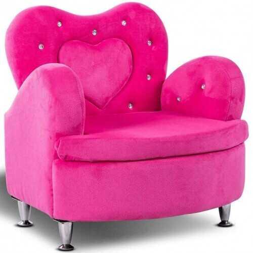 Soft Velvet Armrest Couch Toddler Sofa
