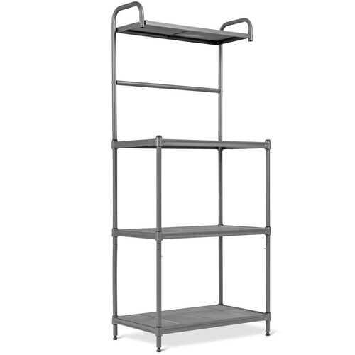 4-Tier Baker's Rack Stand Shelves Kitchen Storage Rack Organizer