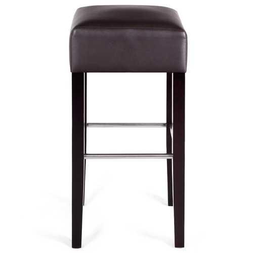 Backless Seat Pub Wood Legs Bar Stool