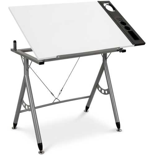Adjustable Art & Craft Station Drawing Desk w/ Side Tray