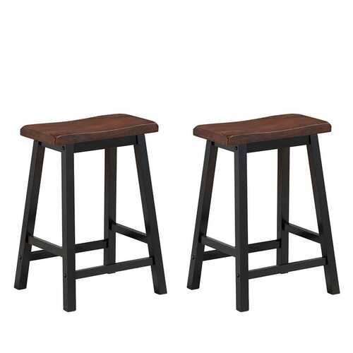 "24"" Height Set of 2 Home Kitchen Dining Room Bar Stools-Coffee"