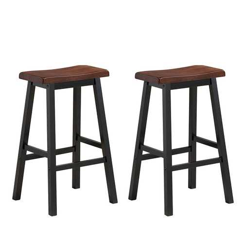 "29"" H Dining Room Set of 2 Bar Stools Pub Chair"