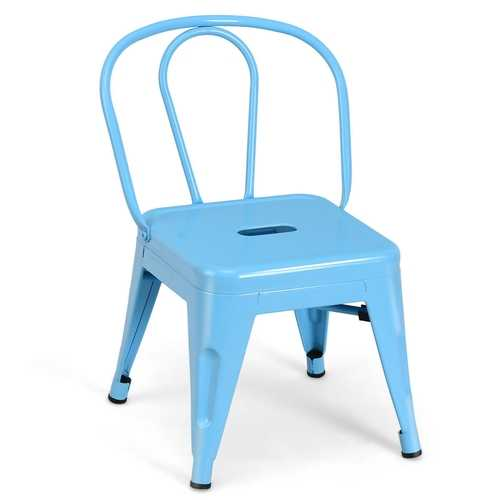 Tolix Kids Lightweight Stackable Stool Metal Chair