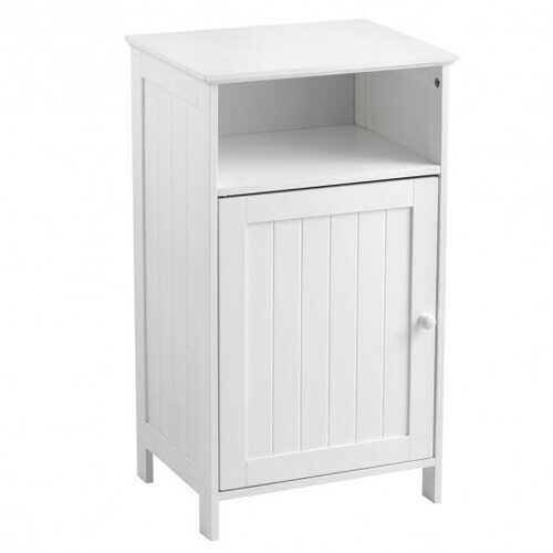 Bathroom Freestanding  Adjustable Shelf Floor Storage Cabinet