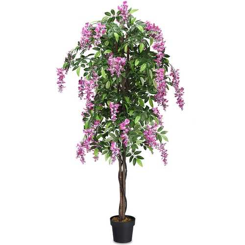 6-Feet Artificial Wistera Silk Indoor-Outdoor Tree