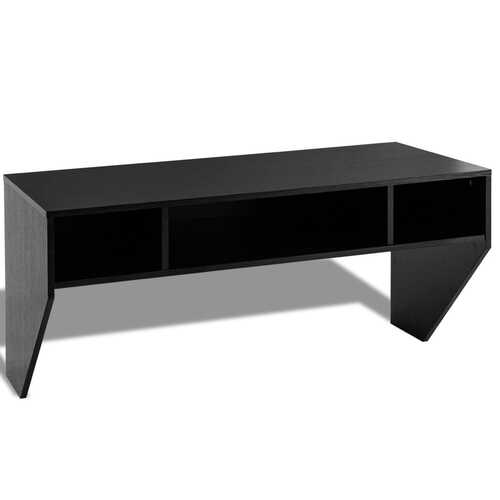 Wall Mounted Floating Sturdy Computer Table with Storage Shelf