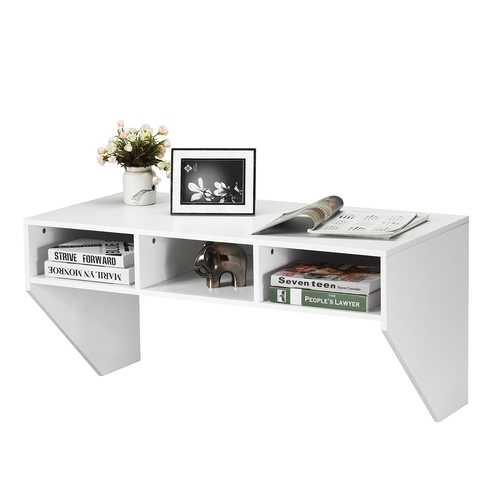 Wall Mounted Floating Computer Table Desk Storage Shelf