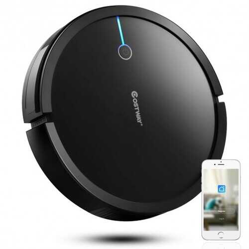 Voice Control Self-Charge Vacuum Cleaner Robot -Black