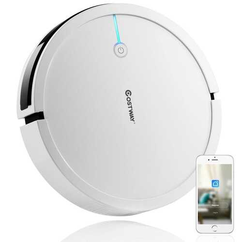 Voice Control Self-Charge Vacuum Cleaner Robot -White