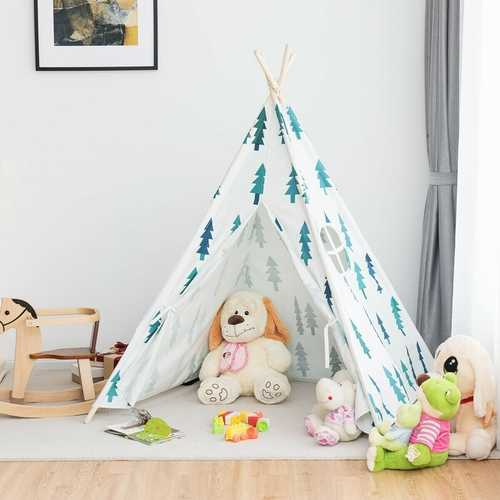 5'5 Indian Play Tent Teepee Children Playhouse Sleeping Dome