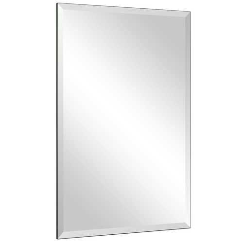 "24"" x 36"" Rectangle Wall Mounted Bathroom Beveled Mirror"
