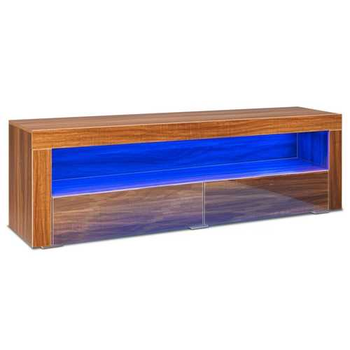 """65"""" TV Stand Cabinet with LED Shelves Modern"""