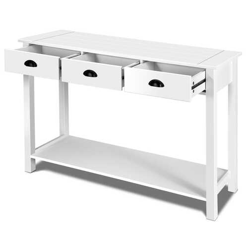 "47"" Entryway Hall Table Side Desk Accent Table with Drawers Shelf"