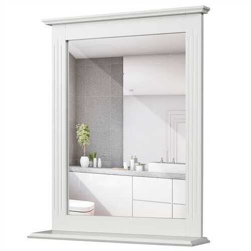 Bathroom Wall Mirror with Shelf Vanity Makeup Mirror