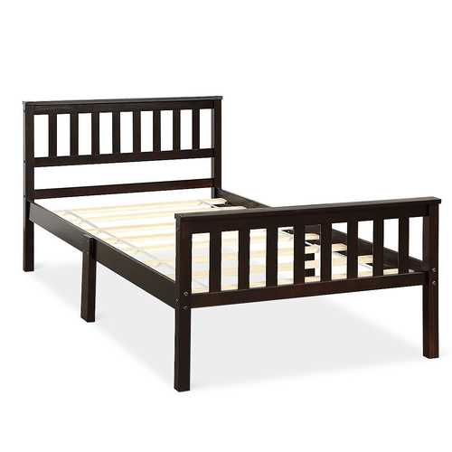 Wood Bed Frame Wood Slats Support Platform Twin Size